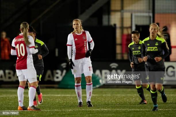 Kelly Zeeman of Ajax Women during the Dutch Eredivisie Women match between Ajax v PSV at the De Toekomst on February 23 2018 in Amsterdam Netherlands