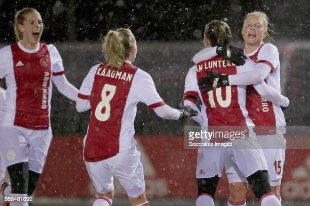 Kelly Zeeman of Ajax Women Inessa Kaagman of Ajax Women Desiree van Lunteren of Ajax Women Linda Bakker of Ajax Women during the Dutch Eredivisie...