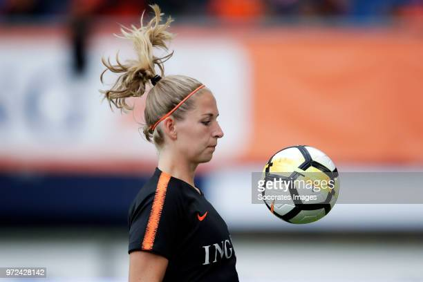 Kelly Zeeman of Holland Women during the World Cup Qualifier Women match between Holland v Slovakia at the Abe Lenstra Stadium on June 12 2018 in...