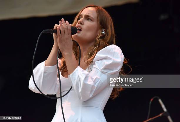 Kelly Zutrau of Wet performs at Lake Tahoe Outdoor Arena At Harveys on August 9 2018 in Stateline Nevada