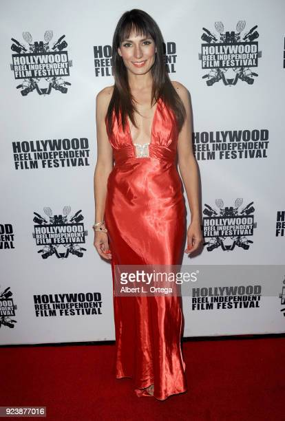 Kellyann Barrett attends the 17th Annual Hollywood Reel Independent Film Festival Award Ceremony Red Carpet Event held at Regal Cinemas LA LIVE...
