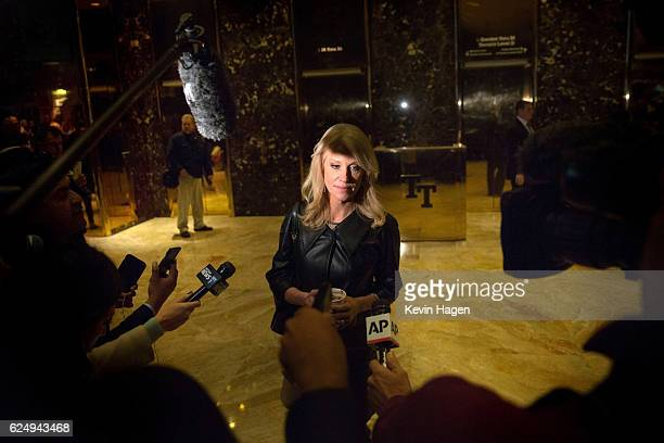 Kellyanne Conway a senior advisor to PresidentElect Donald Trump takes questions from the media at Trump Tower on November 21 2016 in New York City...