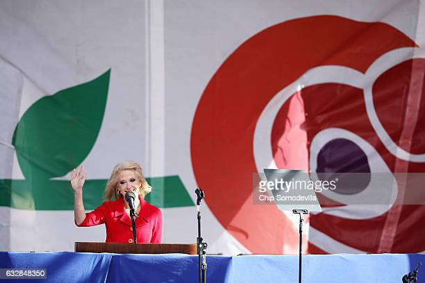 Kellyanne Conway counselor to President Donald Trump addresses a rally on the National Mall before the start of the 44th annual March for Life...