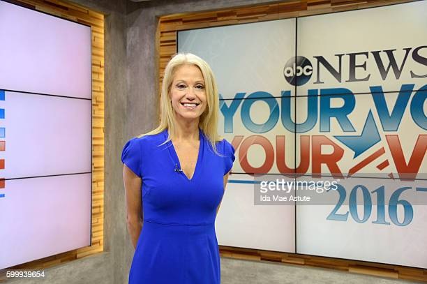 AMERICA Kellyanne Conway discusses the Trump Campaign on 'Good Morning America' 9/7/16 airing on the ABC Television Network KELLYANNE