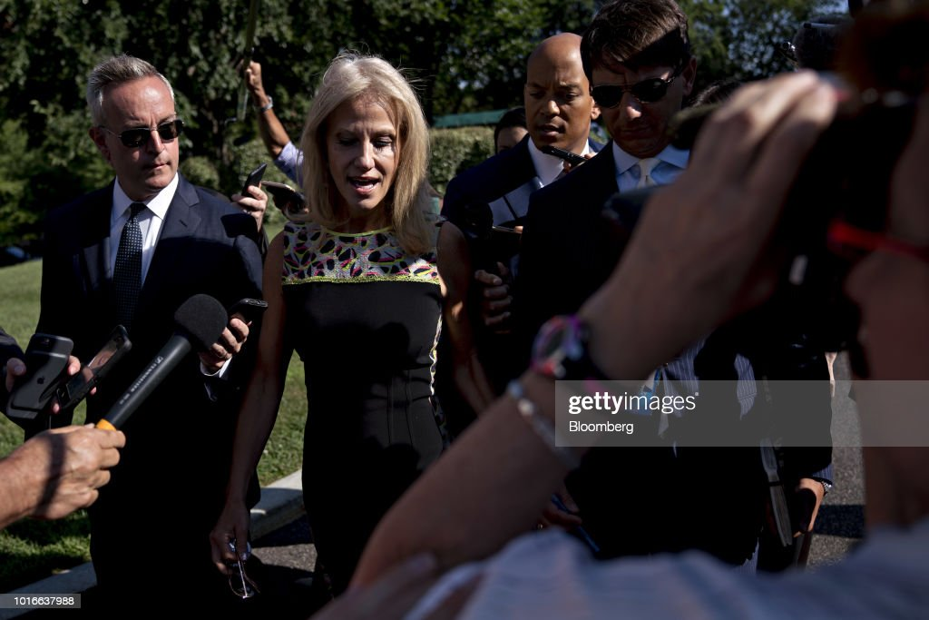 Senior Advisor Kellyanne Conway Addresses The Media Outside The White House