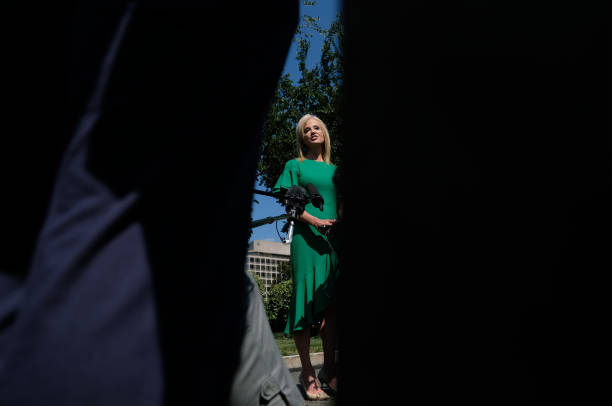 DC: Senior Advisor Kellyanne Conway Addresses The Media Outside The White House