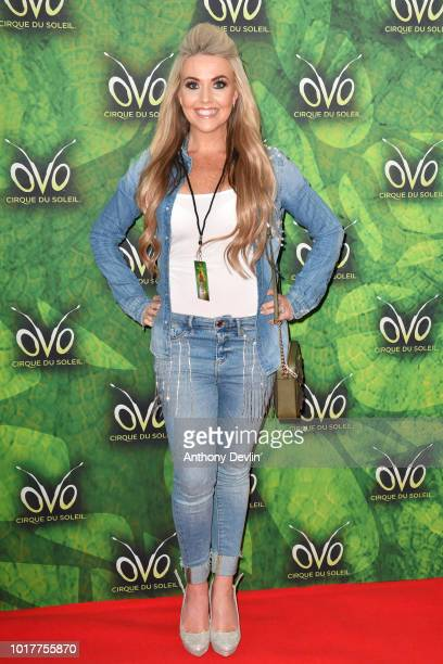 KellyMarie Stewart attends the Cirque Du Soleil's OVO Premiere at The Liverpool Echo Arena on August 16 2018 in Liverpool England