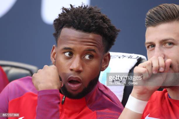 Kellyn Acosta of the United States on the bench during the United States Vs Costa Rica CONCACAF International World Cup qualifying match at Red Bull...