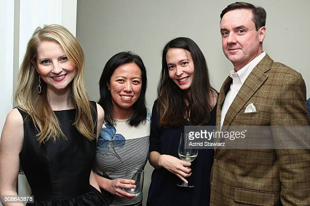 Kellyn Lindsay Annette Fung Kelly Conley and Senior Vice President Finance at Hudson's Bay Company Colin Dougherty attend an intimate evening of...