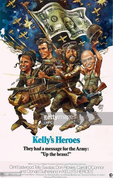 Kelly's Heroes poster poster illustrated by Jack Davis Don Rickles Clint Eastwood Donald Sutherland Telly Savalas 1970