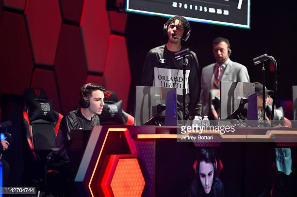 KelMav of Magic Gaming gets hyped during the game against Kings Guard Gaming during the midseason tournament The Turn on May 10 2019 at the NBA 2K...