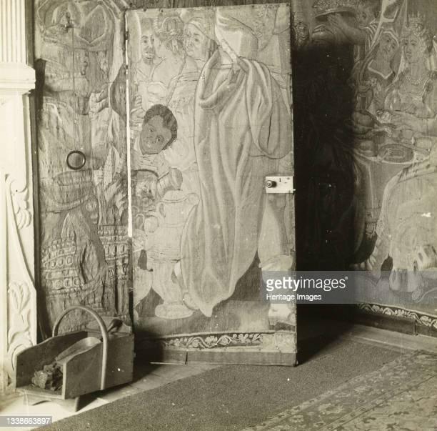 In the Tapestry Room, 1896.Lantern slide. Artist Frederick Henry Evans.