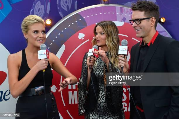 Kelsea Ballerini Amy Brown and Bobby Bones attend the 2017 iHeartRadio Music Festival at TMobile Arena on September 22 2017 in Las Vegas Nevada