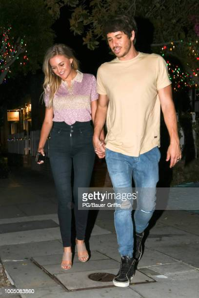 Kelsea Ballerini and Morgan Evans are seen on July 24 2018 in Los Angeles California