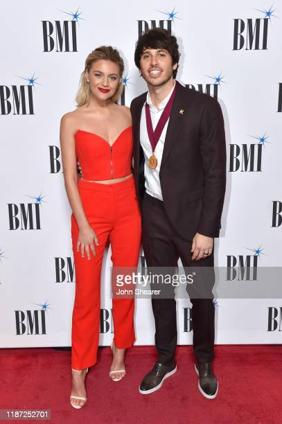 Kelsea Ballerini and Morgan Evans attend as BMI presents Dwight Yoakam with President's Award at 67th Annual Country Awards Dinner at BMI on November...