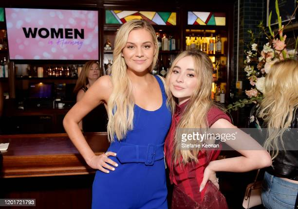 Kelsea Ballerini and Sabrina Carpenter attend the 3rd Annual Women in Harmony PreGrammy Luncheon with Host Bebe Rexha on January 24 2020 in Los...