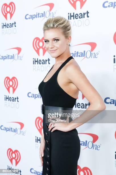Kelsea Ballerini arrives at the 2017 iHeartRadio Music Festival at TMobile Arena on September 22 2017 in Las Vegas Nevada