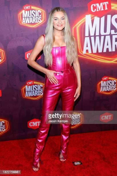 Kelsea Ballerini attends the 2021 CMT Music Awards at Bridgestone Arena on June 09, 2021 in Nashville, Tennessee.