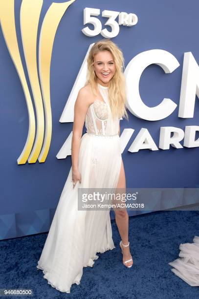 Kelsea Ballerini attends the 53rd Academy of Country Music Awards at MGM Grand Garden Arena on April 15 2018 in Las Vegas Nevada