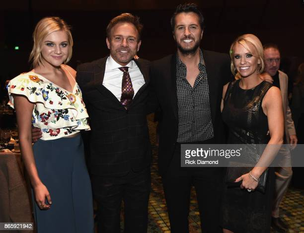 Kelsea Ballerini Fletcher Foster Luke Bryan and Caroline Boyer attend the 2017 Nashville Songwriters Hall Of Fame Awards at Music City Center on...