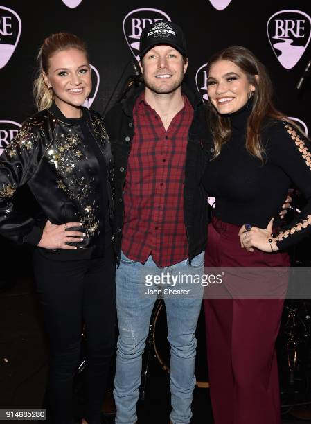 Kelsea Ballerini Jacob Davis and Abby Anderson attend the 2018 Black River Entertainment CRS show featuring Jacob Davis Abby Anderson Kelsea...