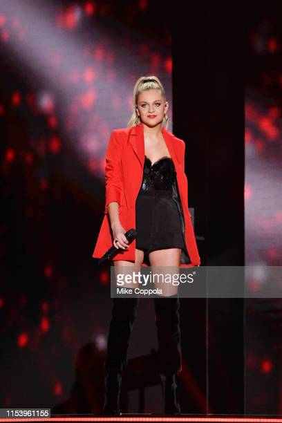 Kelsea Ballerini performs at the 2019 CMT Music Awards at Bridgestone Arena on June 05 2019 in Nashville Tennessee
