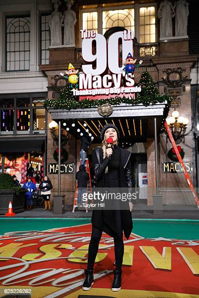 Kelsea Ballerini performs during Macy's Thanksgiving Day Parade rehearsals at Macy's Herald Square on November 22 2016 in New York City
