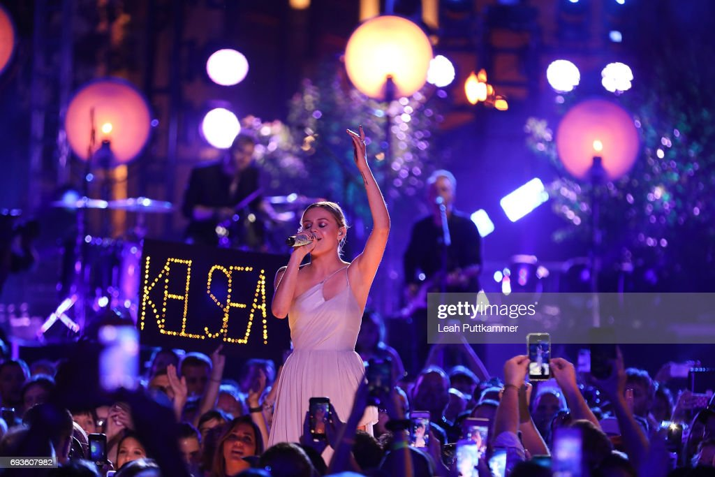 Kelsea Ballerini performs during the 2017 CMT Music awards at the Music City Center on June 7, 2017 in Nashville, Tennessee.