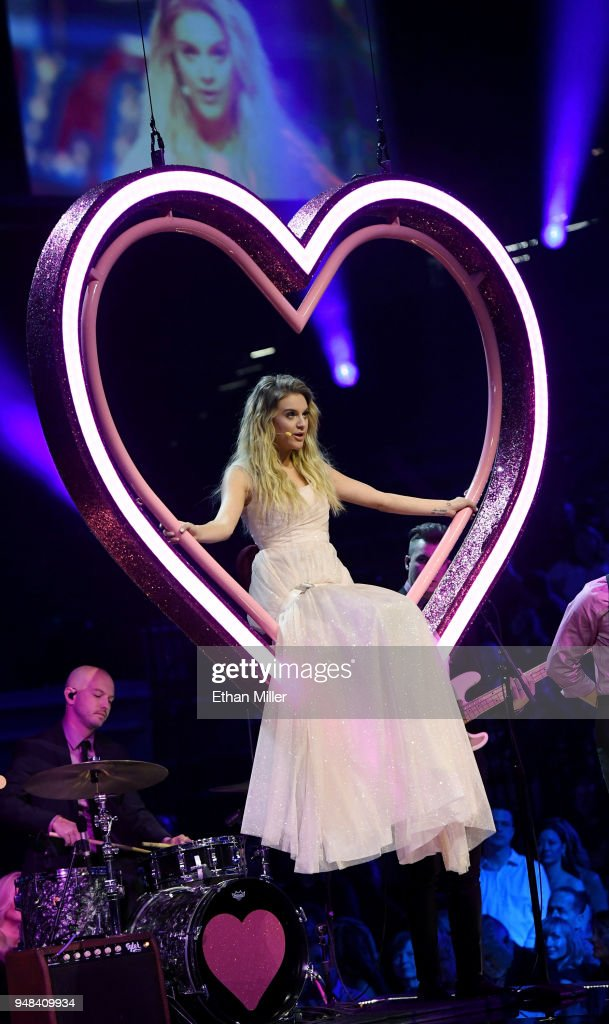 Kelsea Ballerini performs during the 53rd Academy of Country Music Awards at MGM Grand Garden Arena on April 15, 2018 in Las Vegas, Nevada.