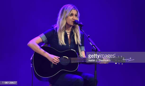 "Kelsea Ballerini performs on stage during ""Stars and Strings Presented by RAM Trucks Built to Serve,"" a RADIO.COM event, at the Fox Theatre on..."