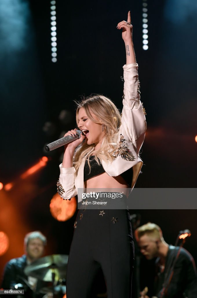 Kelsea Ballerini performs on stage for day 2 of the 2017 CMA Music Festival on June 9, 2017 in Nashville, Tennessee.
