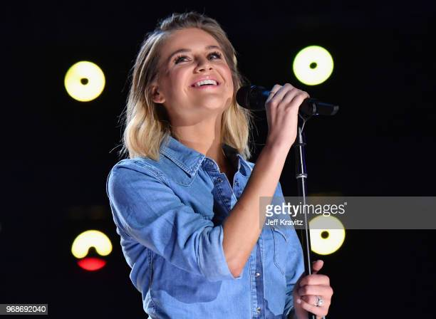 Kelsea Ballerini performs onstage at the 2018 CMT Music Awards at Bridgestone Arena on June 6 2018 in Nashville Tennessee