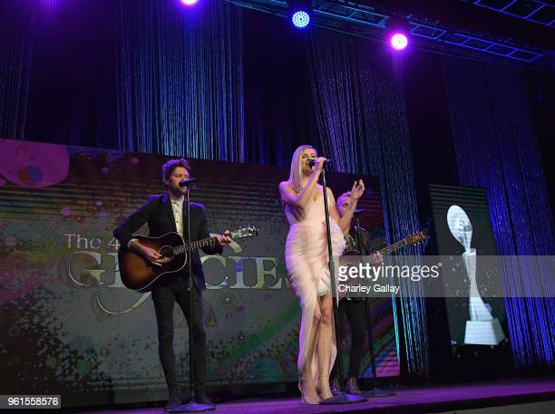 Kelsea Ballerini performs onstage at the 43rd Annual Gracie Awards at the Beverly Wilshire Four Seasons Hotel on May 22 2018 in Beverly Hills...