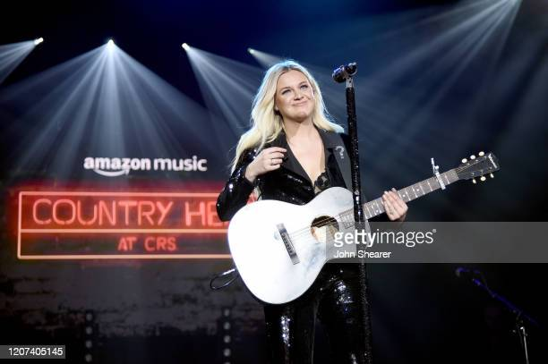 Kelsea Ballerini performs onstage during Country Heat for CRS 2020 at Omni Hotel on February 19 2020 in Nashville Tennessee