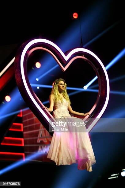 Kelsea Ballerini performs onstage during the 53rd Academy of Country Music Awards at MGM Grand Garden Arena on April 15 2018 in Las Vegas Nevada