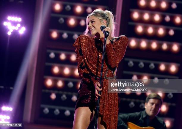 Kelsea Ballerini performs onstage during the 55th Academy of Country Music Awards at Ryman Auditorium on August 25, 2020 in Nashville, Tennessee. The...