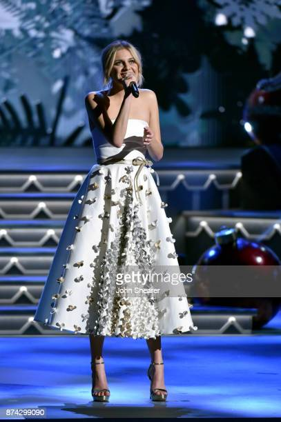 Kelsea Ballerini performs onstage for CMA 2017 Country Christmas at The Grand Ole Opry on November 14 2017 in Nashville Tennessee
