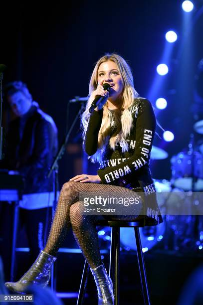 Kelsea Ballerini performs onstage for opening night of The Unapologetically Tour at The Alabama Theatre on February 8 2018 in Birmingham Alabama