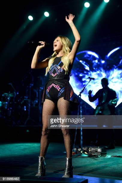Kelsea Ballerini performs onstage for the opening night of The Unapologetically Tour at The Alabama Theatre on February 8 2018 in Birmingham Alabama