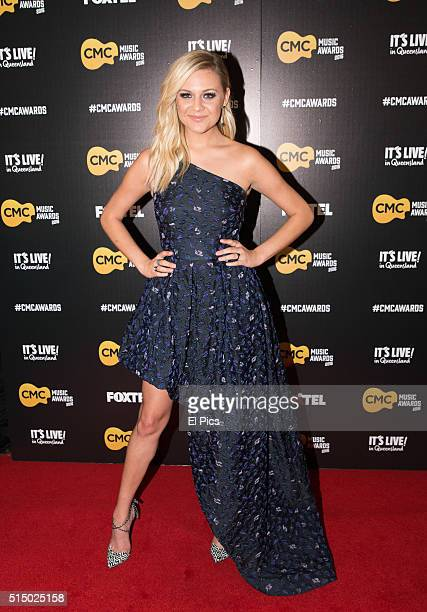 Kelsea Ballerini walks the red carpet at Country Music Channel Awards 2016 at the Queensland Performing Arts Centre on March 10 2016 in Brisbane...