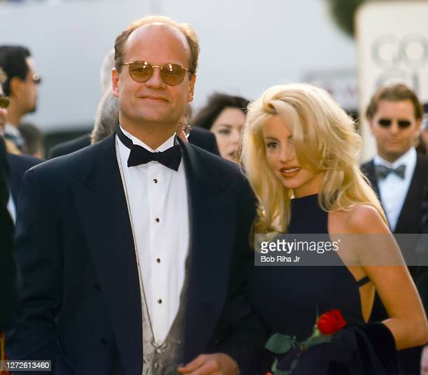 Kelsey and Camille Grammer arrive at Golden Globe Awards Show, January 19, 1997 in Beverly Hills, California.