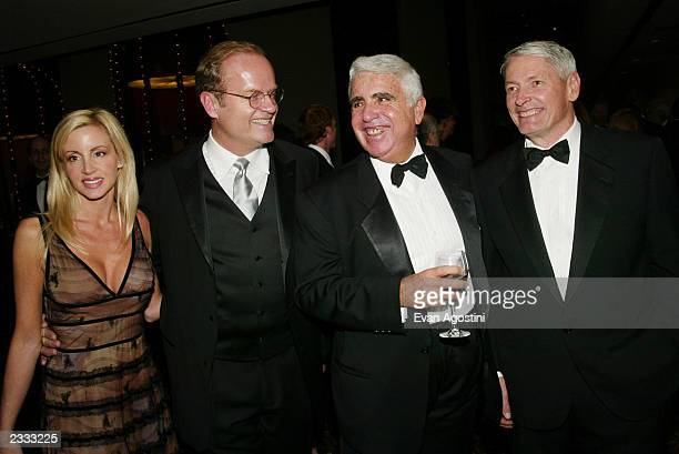 Kelsey and Camille Grammer with Viacom's Mel Karmazin and Liberty Media chairman John Malone at the 12th Annual Broadcasting Cable Magazine Hall of...