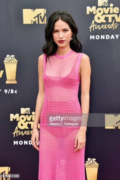 Kelsey Asbille attends the 2018 MTV Movie And TV Awards at Barker Hangar on June 16 2018 in Santa Monica California
