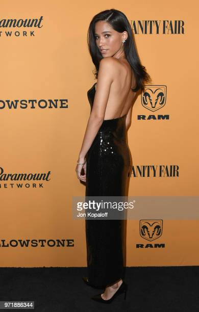 Kelsey Asbille attends the premiere of Paramount Pictures' 'Yellowstone' at Paramount Studios on June 11 2018 in Hollywood California