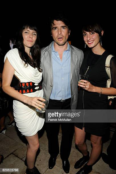 Kelsey Barrett Matt Settle and Katherine Kin attend MARC JACOBS Spring 2009 Collection After Party at The Greenwich Hotel on September 8 2008 in New...