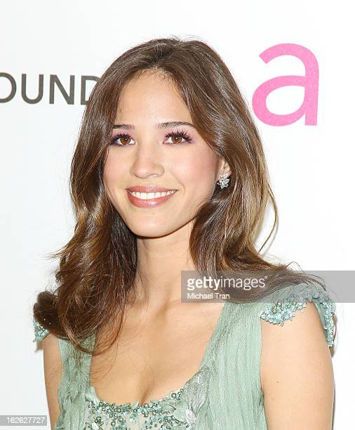 Kelsey Chow arrives at the 21st Annual Elton John AIDS Foundation Academy Awards viewing party held at West Hollywood Park on February 24 2013 in...