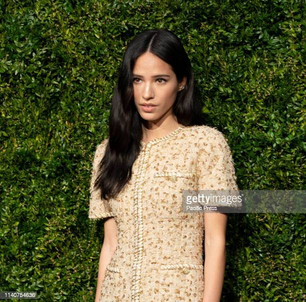 Kelsey Chow wearing Chanel attends the Chanel 14th Annual Tribeca Film Festival Artists Dinner at Balthazar.