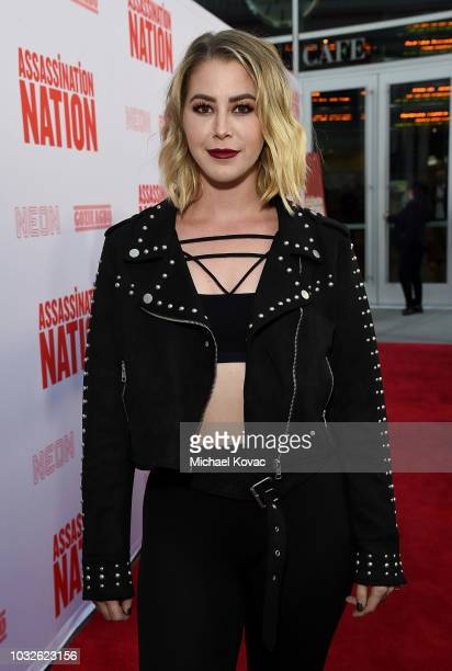 Kelsey Darragh arrives at the Los Angeles Premiere of Assassination Nation at ArcLight Cinerama Dome on September 12 2018 in Hollywood California