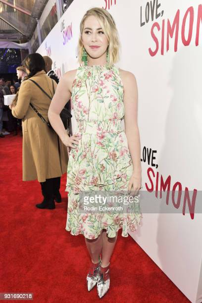 Kelsey Darragh attends a special screening of 20th Century Fox's Love Simon at Westfield Century City on March 13 2018 in Los Angeles California