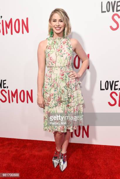 Kelsey Darragh attends Special Screening Of 20th Century Fox's Love Simon Arrivals at Westfield Century City on March 13 2018 in Century City...